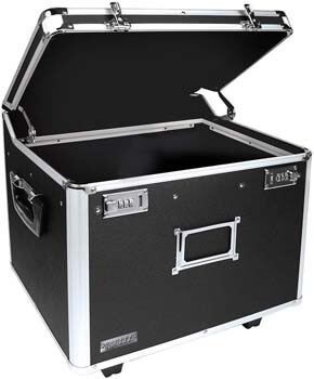 8. Vaultz VZ01270 Locking Mobile File Chest, Letter/Legal