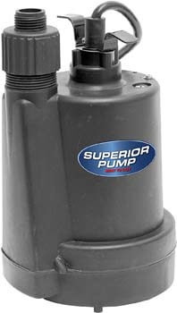 10. Superior Pump 91250 Utility Pump, 1/4 HP