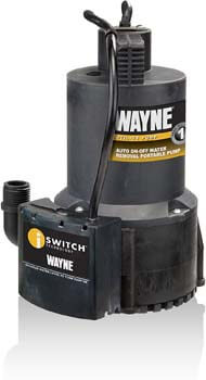 1. Wayne 57729-WYN1 EEAUP250 1/4 HP Automatic ON/OFF Electric Water Removal Pump
