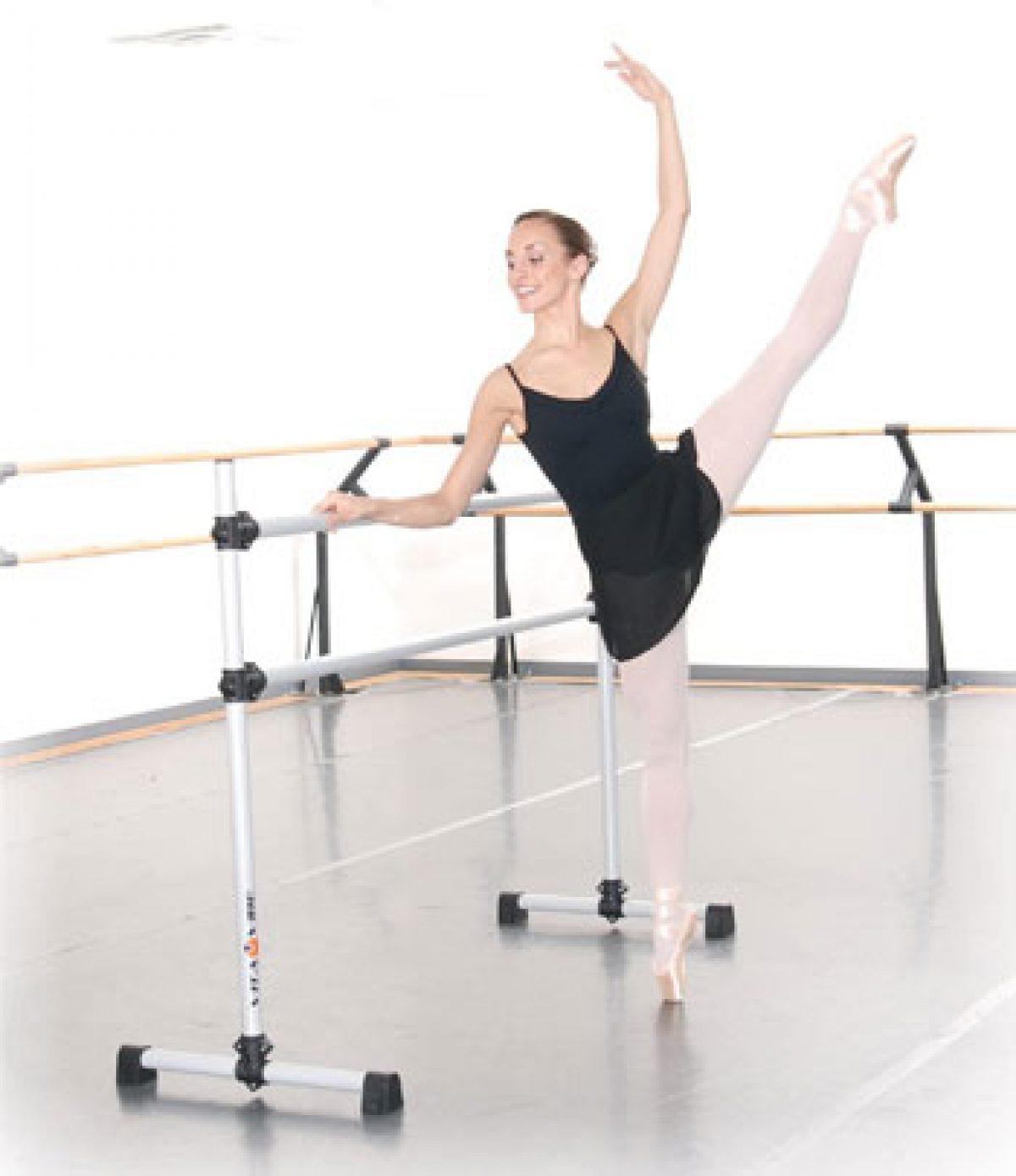 Fitness Ballet Bar ABORON 4x4ft Ballet Barre Portable Freestanding Double Ballet Barre Adjustable Dancing Stretching Ballet for Home,Dance Barre