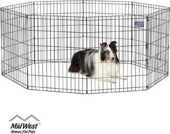 2. MidWest Homes for Pets Foldable Metal Exercise Pen