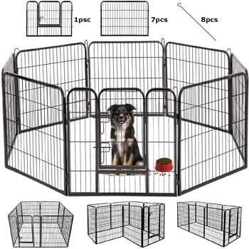 7. BestPet Dog Pen Extra Large Indoor Outdoor Dog Fence Playpen