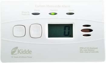 7. Kidde 21010047 C3010D Carbon Monoxide Alarm with Digital Display and 10 Year Sealed Battery