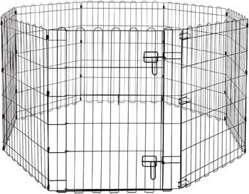4. AmazonBasics Foldable Metal Pet Exercise and Playpen