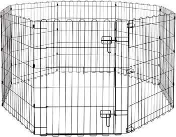 4. AmazonBasics Foldable Metal Pet Exercise and Playpen