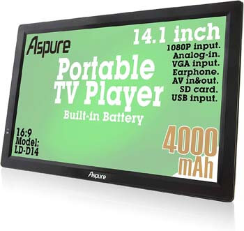 2. LEADSTAR 14 Inch Portable Digital ATSC TFT HD Screen Freeview LED TV