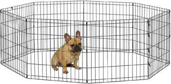 3. New World Pet Products Foldable Metal Exercise Pen & Pet Playpen