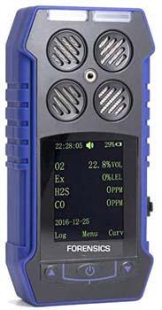 10. FORENSICS DETECTORS MULTI GAS Detector O2, CO, H2S, LEL by Forensics & BOSEAN