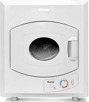 5. COSTWAY Electric Compact Laundry Dryer, 2.65 Cu. Ft. Capacity Portable Tumble Clothes Dryer