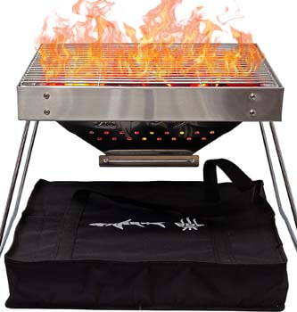 8. Shark BBQ Portable Charcoal Grill for Camping Cooking