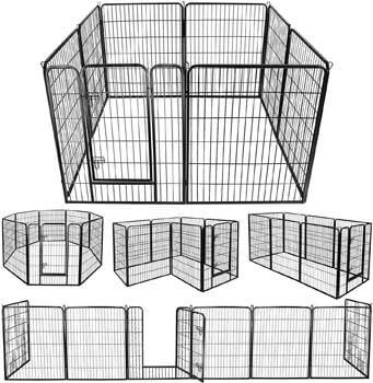 5. ZENY Foldable Metal Exercise Pen & Pet Playpen Puppy Cat Exercise Fence Barrier Playpen Kennel