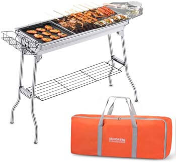 5. AYCFIYING Portable Charcoal Grill, Foldable BBQ Grills