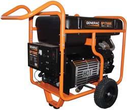 10. Generac 5735 GP17500E 17500 Running Watts/26250 Starting Watts Electric Start Gas Powered Portable Generator