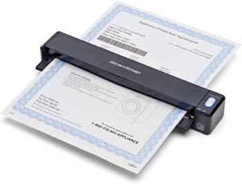 2. Fujitsu PA03688-B005 ScanSnap iX100 Wireless Mobile Scanner for Mac and PC, Black