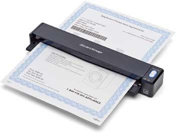 2. Fujitsu PA03688-B005 ScanSnap iX100 Wireless Mobile Scanner for Mac and PC, Black