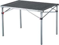 6. KingCamp Folding Camping Table Aluminum Roll Up Top Weatherproof and Rust Resistant Portable Compact Table
