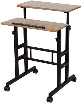 4. SDADI 2 Inches Carpet Wheels Mobile Standing Desk Stand Up Desk