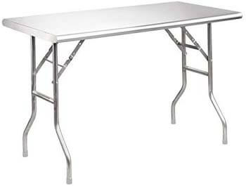 7. Royal Gourmet Stainless Steel Folding Work Table