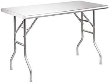 7. Royal Gourmet Stainless Steel Folding Work Table