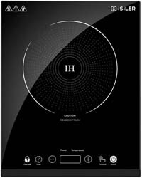 10. Portable Induction Cooktop, iSiLER 1800W Sensor Touch Electric Induction Cooker Cooktop