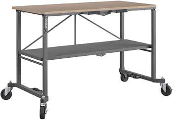 8. COSCO 66721DKG1E Folding Workbench and Table, Dark Gray