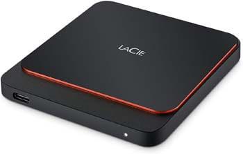 4. LaCie Portable SSD High-Performance External SSD USB-C USB 3.0 2TB