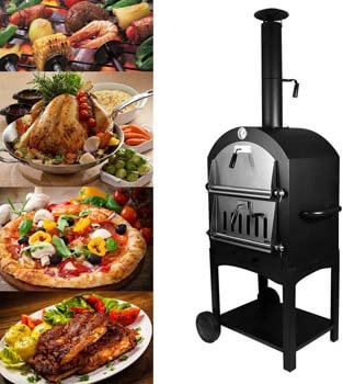 8. Tengchang Outdoor Pizza Oven Wood Fire DIY Portable Family Camping Cooker