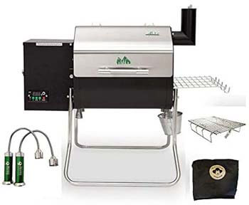2. Davy Crockett Pellet Grill Tailgating Package Includes Cover-Collapsible Rack-BBQ Lights