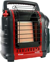 2. Mr. Heater F232000 MH9BX Buddy 4,000-9,000-BTU Indoor-Safe Portable Propane Radiant Heater