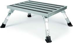 2. Camco Adjustable Height Aluminum Platform Step