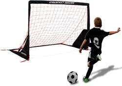 6. Rukket Portable Soccer Goal | Kids Youth Practice Foldable/Pop Up Soccer Net (6x4ft)