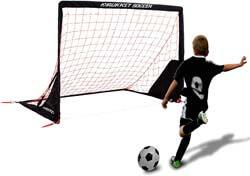 6. Rukket Portable Soccer Goal | Kids Youth Practice Foldable/Pop Up Soccer Net (6x4ft)