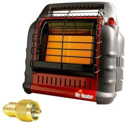 7. Mr. Heater MH18B BIG Buddy Indoor Safe Propane Heater with Adapter
