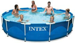2. Intex 12ft x 30in Metal Frame Pool with Filter Pump