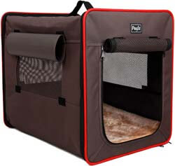 8. Petsfit Sturdy Wire Frame Soft Pet Crate, Collapsible for Travel