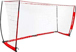 2. PowerNet Soccer Goal Portable Net Collapsible Metal Base