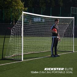 5. QuickPlay Kickster Elite Portable Soccer Goal with Weighted Base