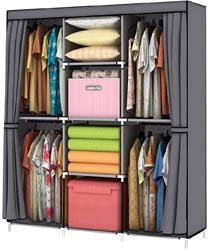 5. YOUUD Wardrobe Storage Closet Clothes Portable Wardrobe Storage