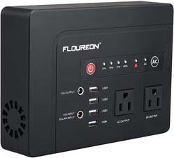 3. floureon Portable Power Generator, 300W 220Wh Home Solar Generator Power Station