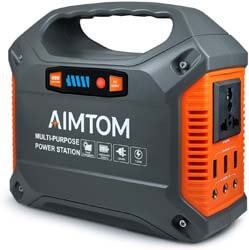 1. AIMTOM Portable Solar Generator, 42000mAh 155Wh Power Station