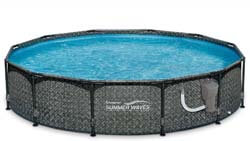 9. Summer Waves 12ft x 33in Round above-Ground Outdoor Frame Swimming Pool with Filter Pump