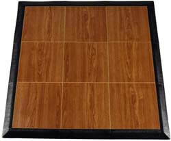 10. Greatmats Portable Dance Floor Wood Grain Tiles 3x3 Ft Kit Tap Dance Studios