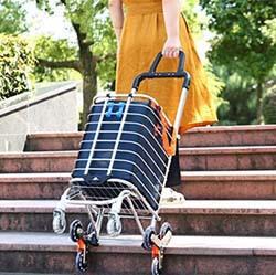 8. BeebeeRun Folding Shopping Cart Portable Grocery Utility Lightweight Stair Climbing Cart
