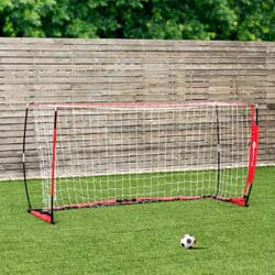 7. GOPLUS Portable Soccer Goal, Foldable Bow Style Net and Net