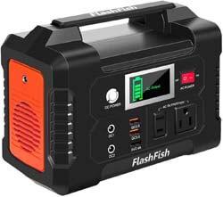 9. FF FLASHFISH 200W Portable Power Station, FlashFish 40800mAh Solar Generator
