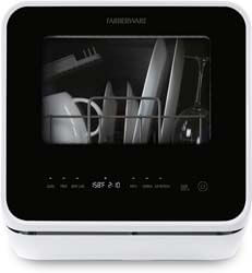 1. Farberware FDW05ASBWHA Complete Portable Countertop Dishwasher
