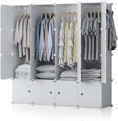 10. YOZO Modular Wardrobe Plastic Portable Closet