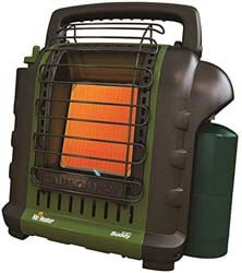 6. Mr. Heater F232010 MH9BX Buddy 4,000-9,000-BTU Indoor-Safe Portable Propane Radiant Heater (Green)