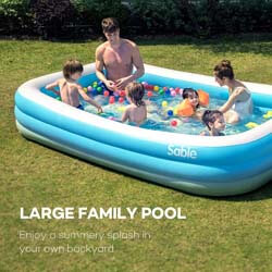 3. Sable Inflatable Pool, Blow Up Family Full-Sized Pool