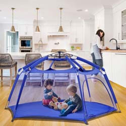 2. Alvantor Playpen Play Yard Space Canopy Fence